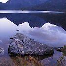 reflections on Dove Lake (Tasmania) by gaylene