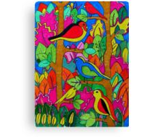 birds in the trees Canvas Print