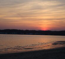 Sunset on the Shore of Shark River, New Jersey Nature USA by Michele Ford