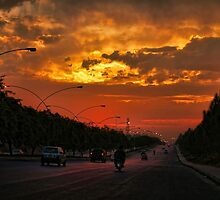The sunset drive by Usman Bajwa