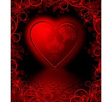 Floral valentines card Photographic Print