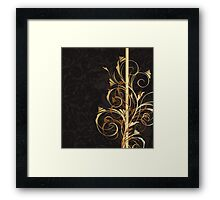 Floral background Framed Print