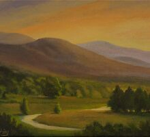 """Hoosac Valley Sunset"" by Edward Cating"