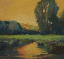"""Ashuwillticook Trail Sunset"" by Edward Cating"