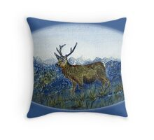 Red Deer on the Cabrach Throw Pillow