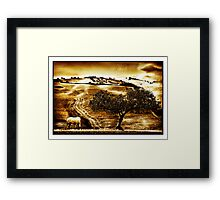 Pastelero Textures - Andalucian Countryside Framed Print