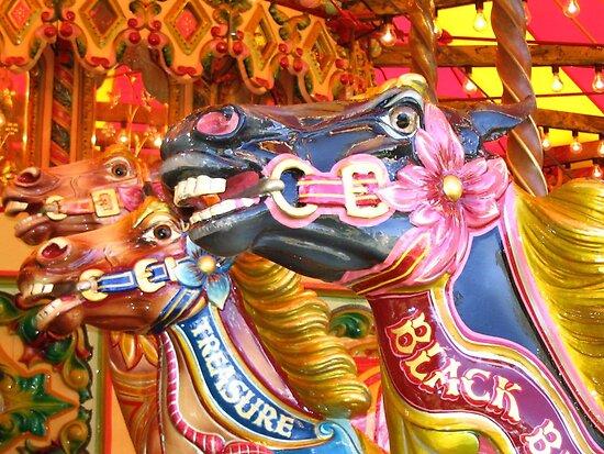 Victorian Carousel York UK Bursting colours by patjila