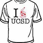 I LOVE UCSD shirt by Erik Diaz