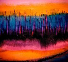Abstract...Gathering Rushes...Moon's Journey pt 4 by © Janis Zroback