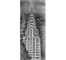Chrysler Building Preliminary Drawing Photographic Print