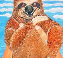 LIKE A BABY - Lazy bear by lein-art
