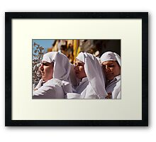 Los hombres de trono - Malaga 2010 Framed Print