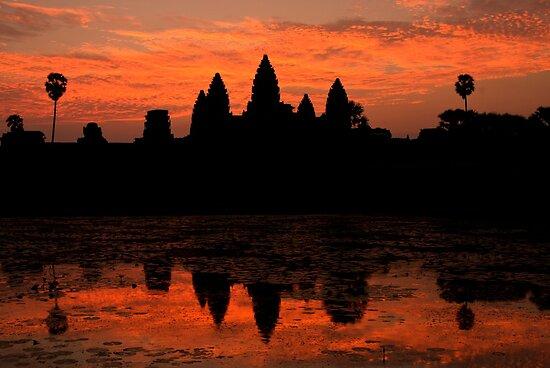 Greeting The Dawn At Angkor Wat  by Gina Ruttle  (Whalegeek)