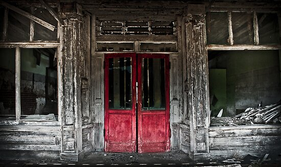 red doors by Phillip M. Burrow