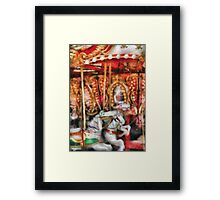 Americana - The Carousel - Painted Version Framed Print