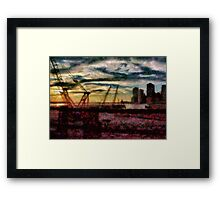 City - NY - Overlooking the Hudson Framed Print