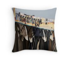 Fragments of Richness: An Indian Expose - uniformity Throw Pillow