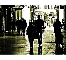 Walking in Shadows Photographic Print