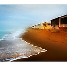 Beach Chalets along the Costa Blanca Coast Near Guardamar del Segura by Mal Bray