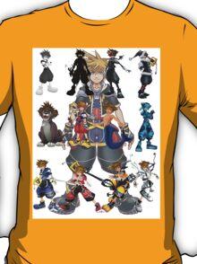 The Many Faces Of Sora . T-Shirt