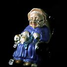 Flowers in the Window - Grandmother Figurine II by Roy Salter