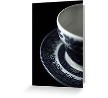 Flowers in the Window - English Tea Cup I Greeting Card