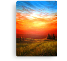 Sunset over the Wheatfield Canvas Print