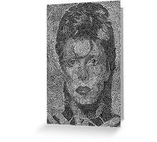 David Bowie - Ziggy Stardust (2003) Greeting Card