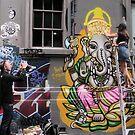 Painting Ganesha by Andrew  Makowiecki