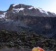 Camp at Breakfast Cliffs, Mount Kilimanjaro by May-Le Ng