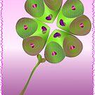 Love luck shamrock by Aleksandra Misic
