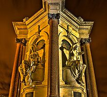 Queen Victoria Statues at Night by Jason Green