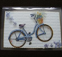Bicycle card - on acetate by Gortsmum