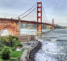 Golden Gate Bridge as Seen from Fort Point Overlook by misterken