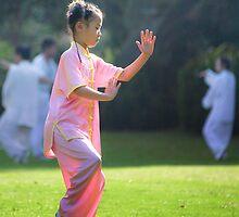 a girl practising TaiJi by michaelsz