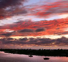 Sunset at Pass a Grille, St Pete's Beach by Mal Bray