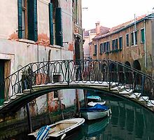 The Arched Bridge - Venice, Italy by T.J. Martin