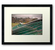 Green, Green Glass Framed Print