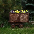 Mining Cart Spring Flowers by PhotosByMendi