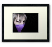 Violet Hush Framed Print
