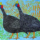 Guineas Blue by carol selchert