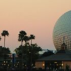 Sun Setting on Disney World by Atheum