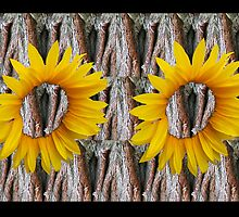 Sunflower Gina Tree by gnarlyart