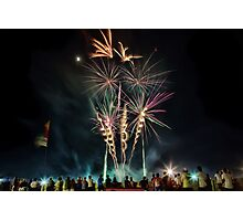 Newcastle Show Fireworks Photographic Print