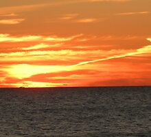Crimson Sunset Ablaze by Majic