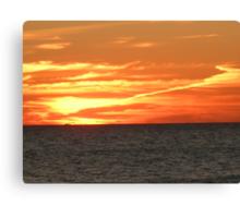 Crimson Sunset Ablaze Canvas Print
