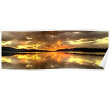 Chasing The Light (20 Exposure HDR Panoramic) - Narrabeen Lakes - The HDR Experience Poster