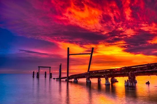 Dusk at Elwood Jetty #1 by Jason Green