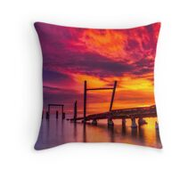 Dusk at Elwood Jetty #1 Throw Pillow