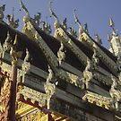Gargoyles on Temple Roof in Thailand. by Mywildscapepics